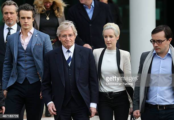 Actor William Roache with his son James Roache Linus Roache daughter Verity Roache and her partner Paddy leave Preston Crown Court after being found...