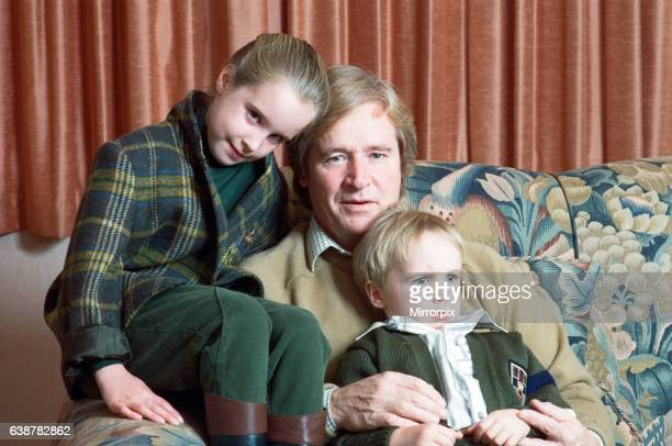 Actor William Roache with two of his children James and Verity 1st November 1989