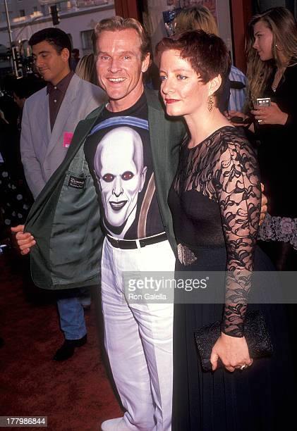 """Actor William Sadler and wife Marni Joan Bakst attend the """"Bill & Ted's Bogus Journey"""" Hollywood Premiere on July 11, 1991 at the Mann's Chinese..."""