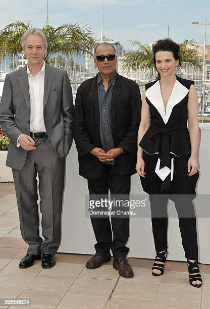 Actor William Schimmel director Abbas Kiarostami and actress Juliette Binoche attend the 'Certified Copy' Photo Call held at the Palais des Festivals...
