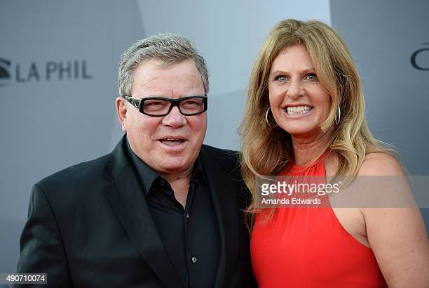 Actor William Shatner and Elizabeth Shatner arrive at The Los Angeles Philharmonic 2015/2016 Season Opening Night Gala at the Walt Disney Concert...
