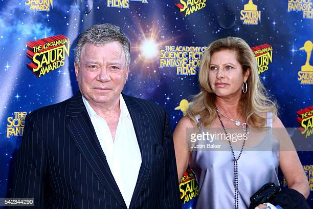 Actor William Shatner and Elizabeth Shatner arrive for the 42nd Annual Saturn Awards at The Castaway on June 22 2016 in Burbank California