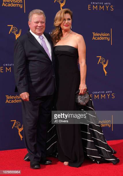 Actor William Shatner and Elizabeth Shatner attend the 2018 Creative Arts Emmy Awards at Microsoft Theater on September 8 2018 in Los Angeles...