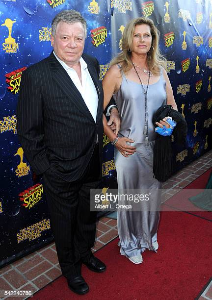 Actor William Shatner and Elizabeth Shatner attend the 42nd annual Saturn Awards at The Castaway on June 22 2016 in Burbank California