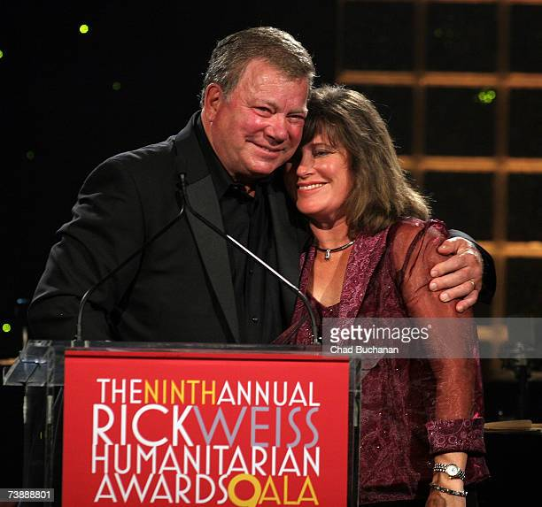 Actor William Shatner and his daughter Leslie Walker attend the 2007 Rick Weiss Humanitarian Awards at the Westin Mission Hills Resort on April 14...