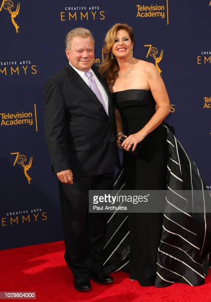 Actor William Shatner and his Wife Elizabeth Shatner attend the 2018 Creative Arts Emmy Awards - Day 1 at Microsoft Theater on September 8, 2018 in...