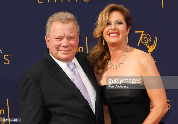 Actor William Shatner and his Wife Elizabeth Shatner attend the 2018 Creative Arts Emmy Awards Day 1 at Microsoft Theater on September 8 2018 in Los...