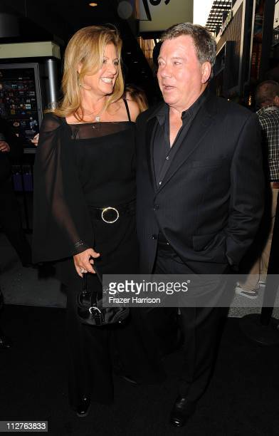 Actor William Shatner and wife Elizabeth Martin arrive at the 3rd Annual Revolver Golden God Awards at the Club Nokia on April 20 2011 in Los Angeles...