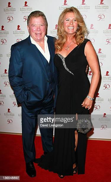 Actor William Shatner and wife Elizabeth Shatner attend the 50th anniversary celebration for St Jude Children's Research Hospital at The Beverly...