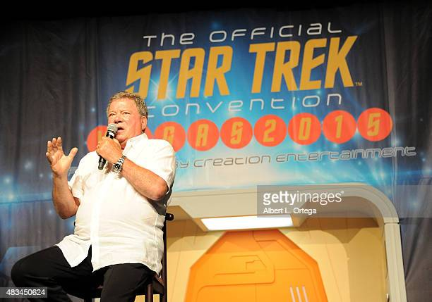 Actor William Shatner at the 14th annual official Star Trek convention at the Rio Hotel Casino on August 8 2015 in Las Vegas Nevada