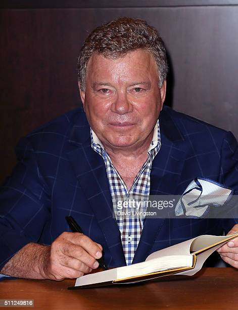"Actor William Shatner attends a book signing for ""Leonard: My Fifty-Year Friendship with a Remarkable Man"" at Barnes & Noble at The Grove on February..."