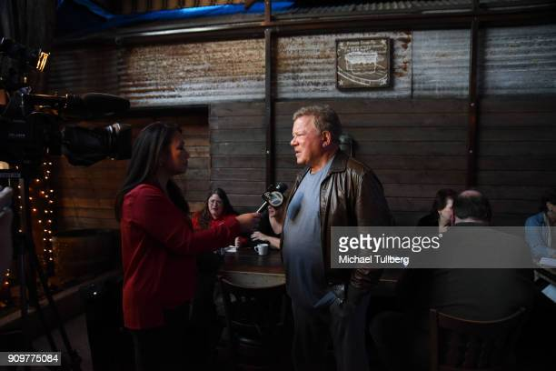Actor William Shatner attends a gifting ceremony for the charities supported by the annual Priceline.com Hollywood Charity Horse Show sponsored by...