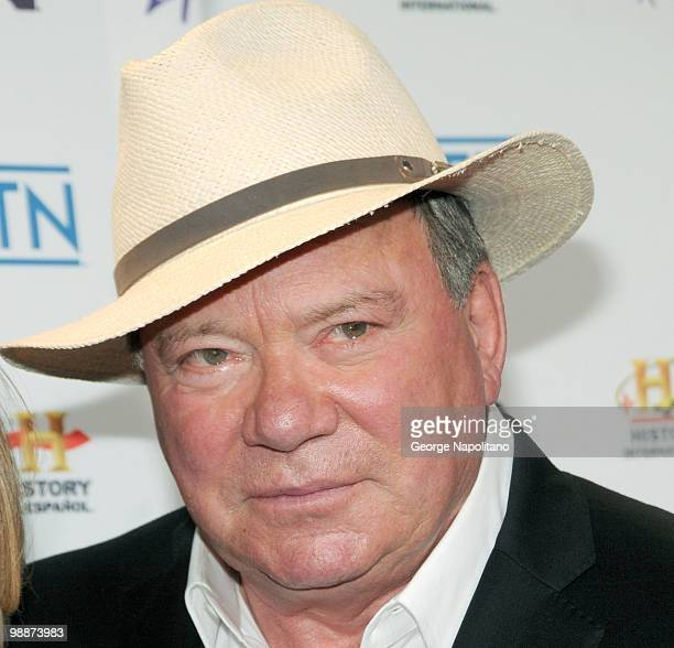 Actor William Shatner attends the 2010 A&E Upfront at the IAC Building on May 5, 2010 in New York City.