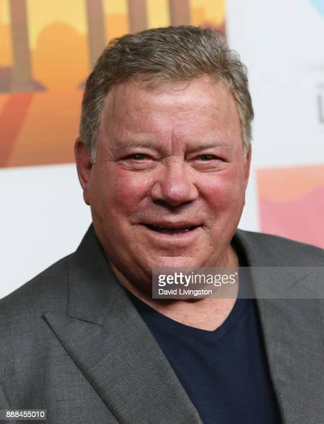 Actor William Shatner attends the premiere of NBC's 'Better Late Than Never' at Universal Studios Hollywood on November 29 2017 in Universal City...