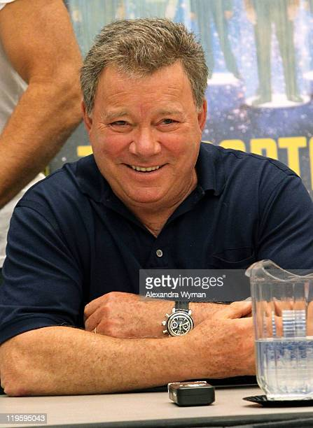 "Actor William Shatner attends the ""Shatnerpalooza"" Press Conference during Comic-Con 2011 on July 22, 2011 in San Diego, California."