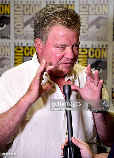 Actor William Shatner attends the 'Star Trek 50' press line during ComicCon International on July 23 2016 in San Diego California
