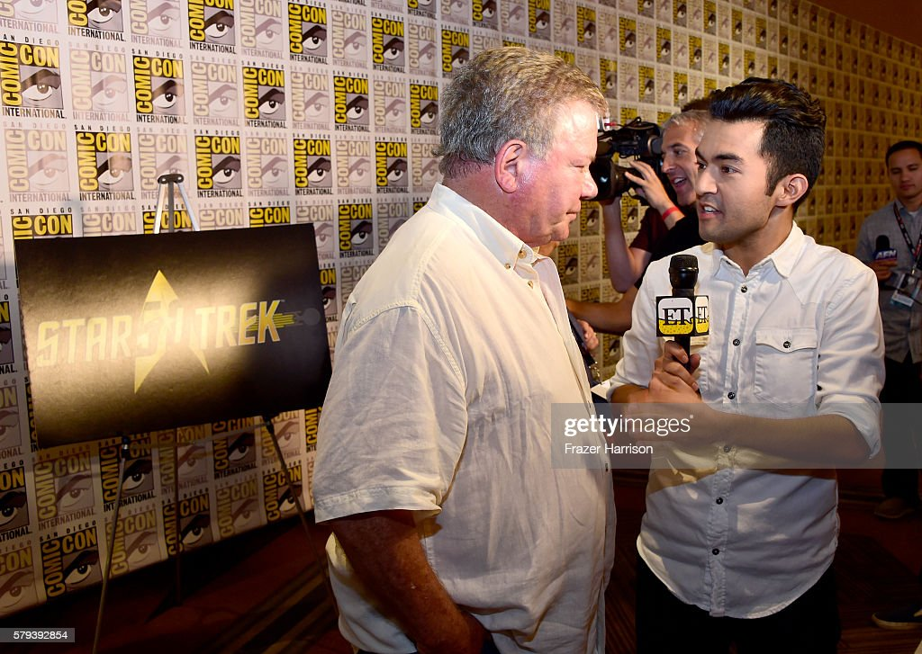 Actor William Shatner attends the 'Star Trek 50' press line during Comic-Con International on July 23, 2016 in San Diego, California.
