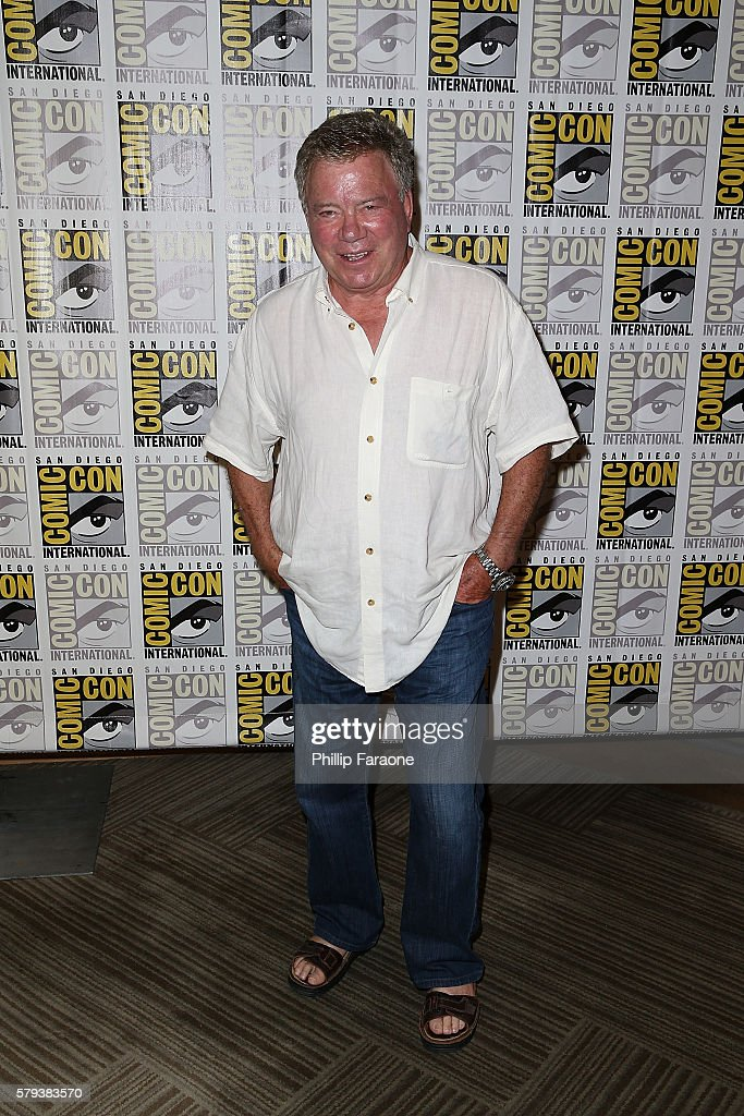 Actor William Shatner attends the 'Star Trek 50' press line during Comic-Con International 2016 on July 23, 2016 in San Diego, California.