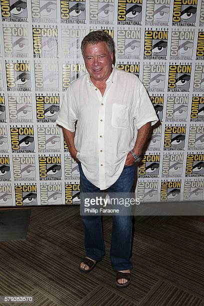 Actor William Shatner attends the 'Star Trek 50' press line during ComicCon International 2016 on July 23 2016 in San Diego California