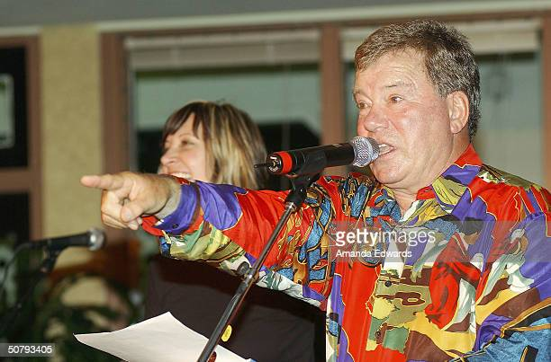Actor William Shatner hosts a live auction at the 14th Annual Hollywood Charity Horse Show on May 1 2004 at the Los Angeles Equestrian Center in...
