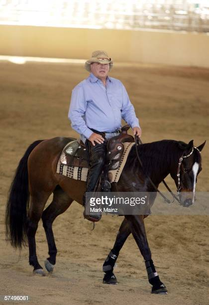 Actor William Shatner hosts the 'Hollywood Charity Horse Show' at the Los Angeles Equestrian Center Equidome on April 29 2006 in Los Angeles...