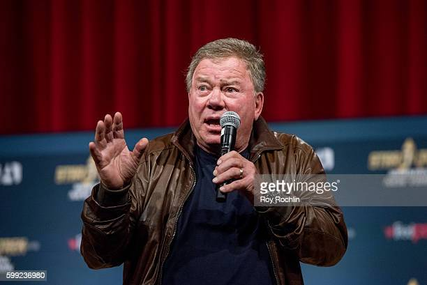 "Actor William Shatner on the main stage during ""Star Trek: Mission New York"" day 3 at Javits Center on September 4, 2016 in New York City."