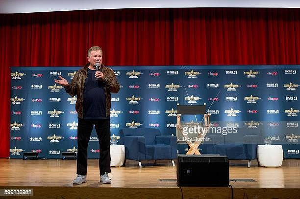 """Actor William Shatner on the main stage during """"Star Trek: Mission New York"""" - Day 3 at Javits Center on September 4, 2016 in New York City."""