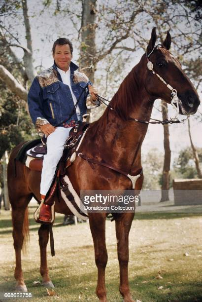 Actor William Shatner poses for a portrait session at home in April 1991 in Los Angeles California