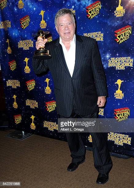 Actor William Shatner poses in the pressroom at the 42nd annual Saturn Awards at The Castaway on June 22, 2016 in Burbank, California.