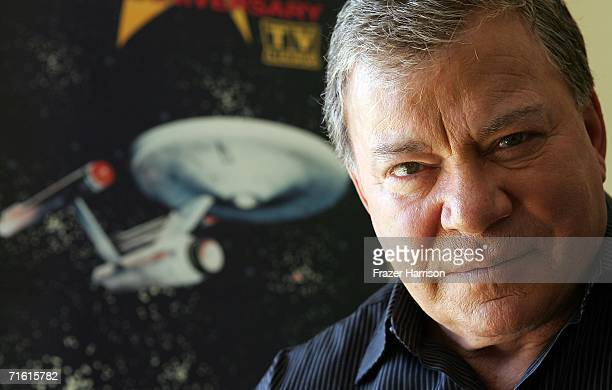 Actor William Shatner promotes the Star Trek 40th Anniversary on the TV Land network at the Four Seasons hotel August 9 2006 in Los Angeles...