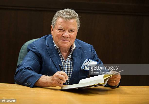 "Actor William Shatner signs copies of his new book ""Leonard: My Fifty-Year Friendship With A Remarkable Man"" at Barnes & Noble at The Grove on..."
