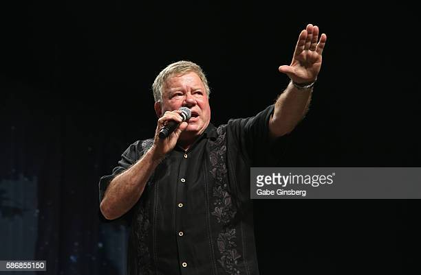 Actor William Shatner speaks during the 15th annual official Star Trek convention at the Rio Hotel & Casino on August 6, 2016 in Las Vegas, Nevada.