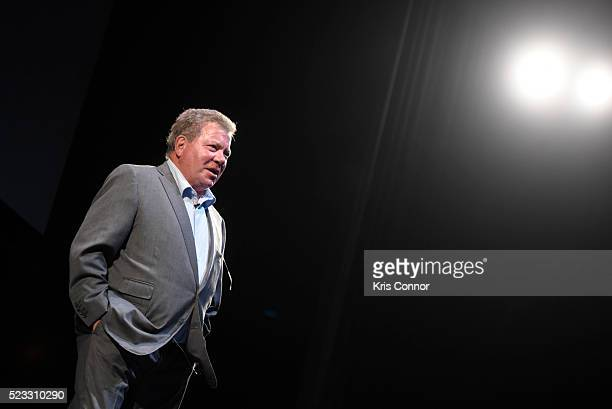 Actor William Shatner speaks during the Smithsonian Magazine's 2016 Future Is Here Festival at The National Press Club in Sidney Harman Hall at the...