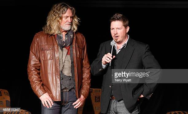 Actor William Shockley and Director Dustin Rikert attend the 'Ambush At Dark Canyon' premiere at the Country Music Hall of Fame and Museum on January...
