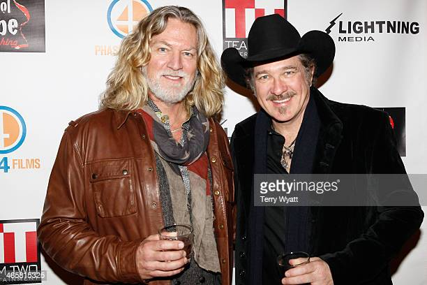 Actor William Shockley and Kix Brooks attend the 'Ambush At Dark Canyon' premiere at the Country Music Hall of Fame and Museum on January 29 2014 in...