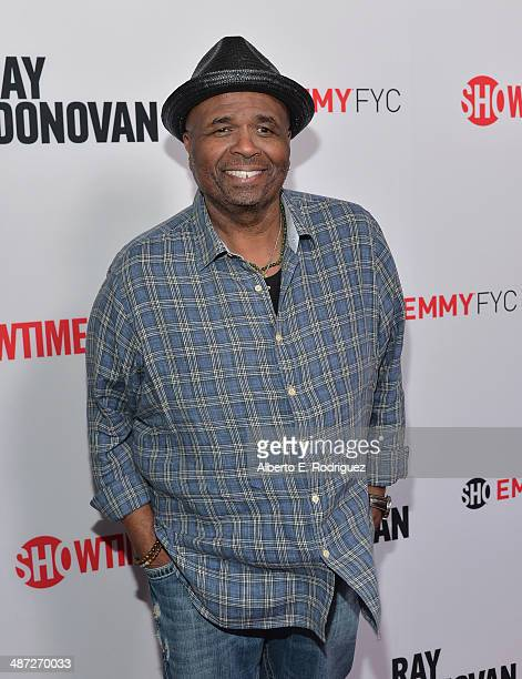 Actor William Stanford Davis arrives to an exclusive conversation with the cast of Showtime's Ray Donovan at Leonard H Goldenson Theatre on April 28...