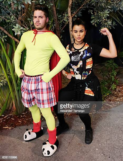 Actor William Valdes and Clarissa Molina are seen at the Miami Micro Theater prior to his performance in 'La Capa' on November 26 2016 in Miami...