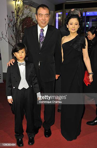 Actor William Wang, producer Hong Chen and director Kaige Chen attend the 'Zhao Shi Gu Er' Premiere during day five of the 61st Berlin International...
