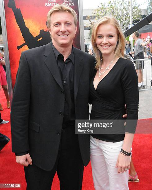 """Actor William Zabka and wife arrive at """"The Karate Kid"""" Los Angeles premiere held at Mann Village Theatre on June 7, 2010 in Westwood, California."""