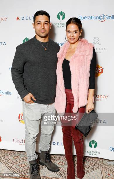 Actor Wilmer Valderrama and Brooke Burke attend Operation Smile's 7th Annual Park City Ski Challenge Sponsored by The St Regis Deer Valley and Deer...