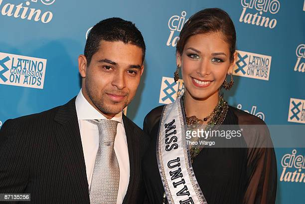 Actor Wilmer Valderrama and Miss Universe Dayana Mendoza attend the 14th annual Cielo Latino awards and auction at Cipriani Wall Street on May 12...