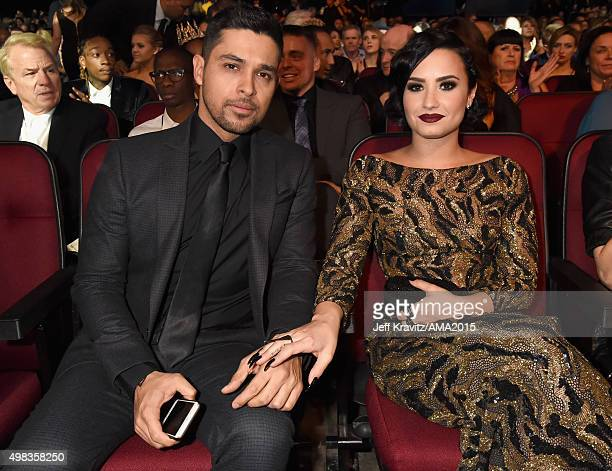 Actor Wilmer Valderrama and recording artist Demi Lovato attend the 2015 American Music Awards at Microsoft Theater on November 22 2015 in Los...