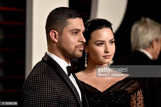 Actor Wilmer Valderrama and singer Demi Lovato attend the 2016 Vanity Fair Oscar Party hosted By Graydon Carter at Wallis Annenberg Center for the...