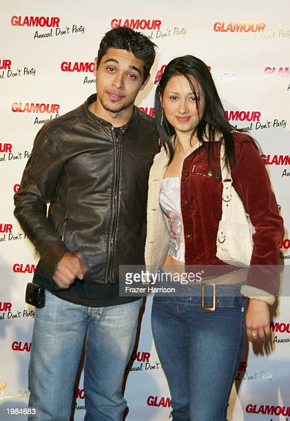 Actor Wilmer Valderrama and sister Marilyn attend Glamour Magazine's Dont Party event held at Shakey's Pizza May 8 2003 in Hollywood California Photo...