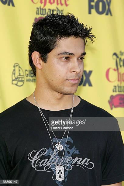 Actor Wilmer Valderrama arrives at the 2005 Teen Choice Awards held at Gibson Amphitheatre at Universal CityWalk on August 14 2005 in Universal City...