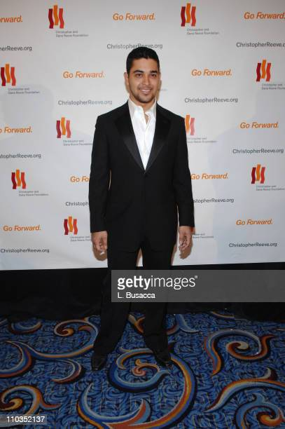"""Actor Wilmer Valderrama attends """"A Magical Evening"""" hosted by The Christopher and Dana Reeve Foundation at The Marriott Marquis on November 12, 2007..."""