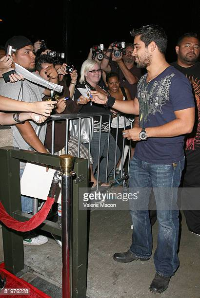 Actor Wilmer Valderrama attends the 2nd Annual Celebrity Bowling Night held by Matt Leinard on July 17 2008 in Hollywood California