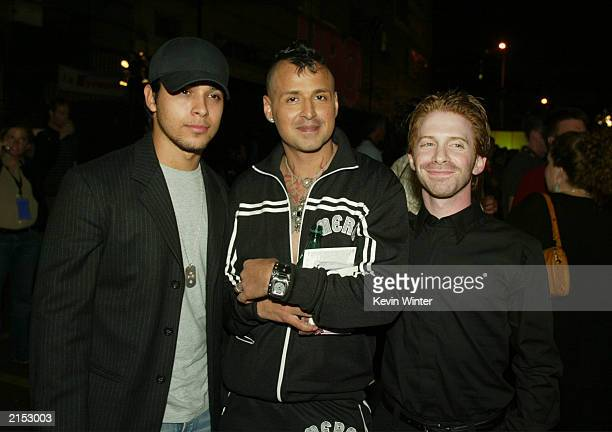 Actor Wilmer Valderrama DJ Keyoki and actor Seth Green mingle during the after party for the Opening Night Gala of OUTFEST LA's Gay and Lesbian Film...
