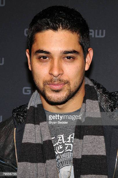 Actor Wilmer Valderrama poses backstage at the G Star Fall 2008 fashion show during MercedesBenz Fashion Week Fall 2008 at Gotham Hall on February 5...