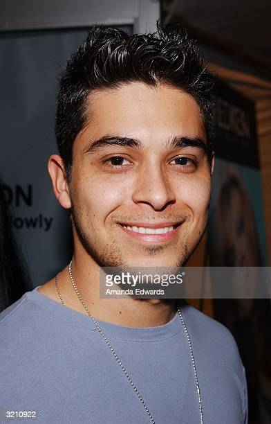 Actor Wilmer Valderrama poses during the Enyce Lady Enyce fashion show at Mercedes Benz Fashion Week in Smashbox Studios on April 2 2004 in Culver...